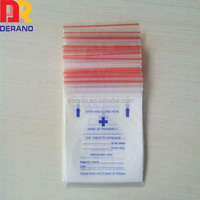 Biodegradanble clinic use plastic ldpe reclosable medical bag