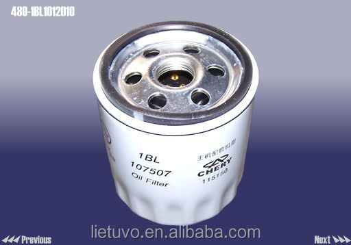 Original High Quality Low Price Engine Oil Filter Component for Chery Autos 480-1BL1012010