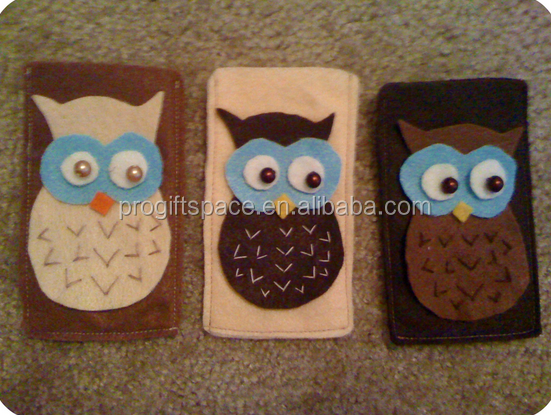 2017 hot new products alibaba website china supplier wholesale custom design felt phone cover owl phone case made in china