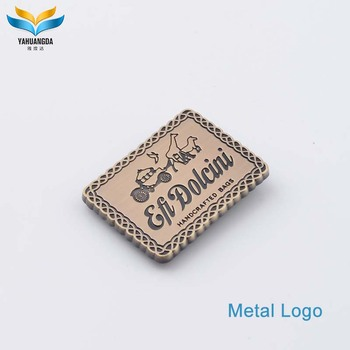 fashion bags accessories metal custom logo,metal label for woman high quality