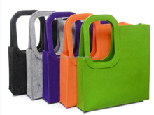 Cheap Wholesale organic neoprene carry bag with handle, fabric make felted wool tote bag