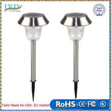 Solar Powered Lawn Lamps Stainless Steel Ground Insert Sensor Lamp Outdoor Garden Pathway Landscape Decoration LED White Light