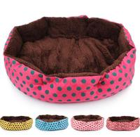 Cheap super soft Anise dot fabric dog indoor house for sale
