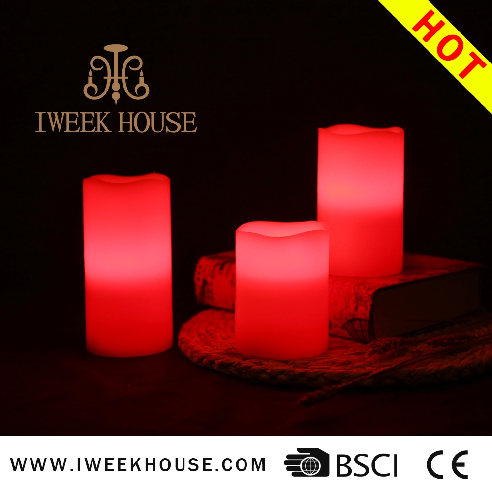 High Quality Fashion Remote Controlled Multi-color Flameless Candles