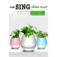 2017 New Hot Creative Plant Pots Bluetooth Smart Flower Pot Speaker with Light Touch Plant