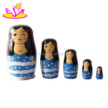 New design nesting wooden matryoshka dolls for Promotion gift W06D087