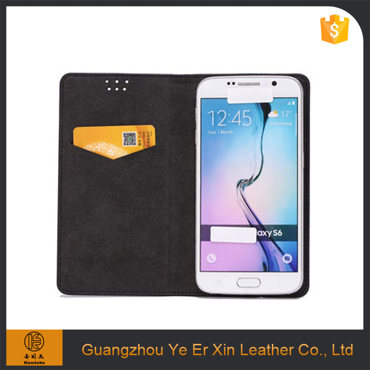 Wholesale guangzhou luxury free sample custom leather smart cell phone case for samsung galaxy s5 s7 edge
