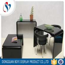 High Quality Acrylic Table Home Decoration Black Acrylic Plexiglass Furniture