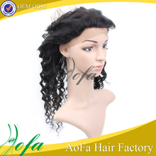 Aliexpress Peruvian Virgin Loose Curly Human Hair 360 Lace Frontal Closure With Band Hair