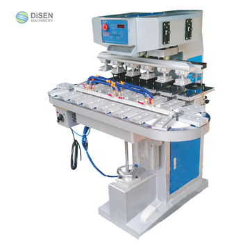 6 Color Hardware Pad Printer with Conveyor