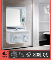 2015 New Arrived PVC bathroom vanity cabinet with mirror made in China 8072
