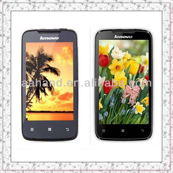 Original lenovo A390 support russian android 4.0 cell phone MTK6577 Dual core RAM 512M+ROM 4GB Dual SIM card