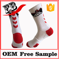 high-performance bike socks white thick sock fashionable custom sock
