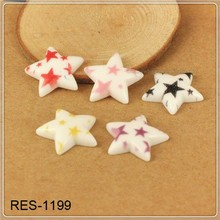 very hot and lovely flat back resin cabochons glitter star Pastel Confetti star RES-1199 clear casting resins