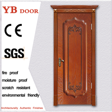 China manufacturer internal door wooden machine carving flowers environmental painting high quality solid wood door