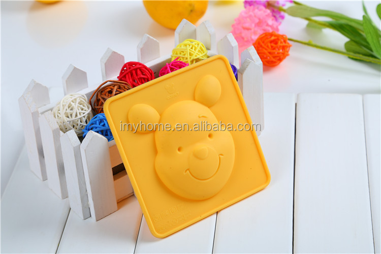 3D cute bear shaped silicone soap mold , funny silicone cake mold