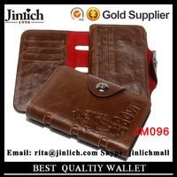 Hot Sale Man Brown Clutch Wallet with Zipper Pocket for Success Man