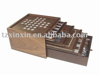 wooden games 6 IN 1 Game set with chess checker games 8673