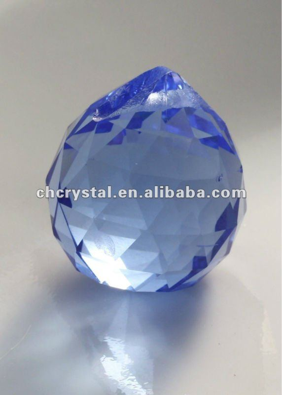 20mm Light Sapphire Blue Crystal Ball chandelier prisms, crystal hanging facted ball