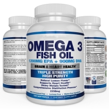 Amazon hot sale ultra-pure Omega-3s DHA & EPA triple strength burpless vitamin drum raw fish oil softgel capsule