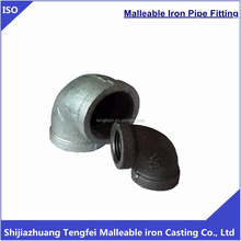 galvanized / black Malleable iron elbow pipe fittings