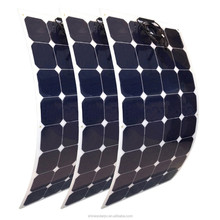 100W 18V Sunpower cut semi flexible solar panel solar cell marine