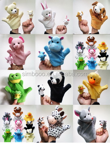 2017 Christmas family animal finger toy