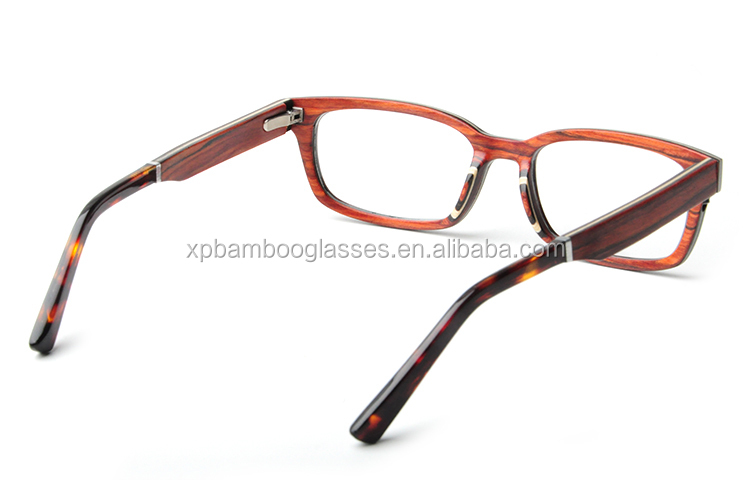 latest small oem engraved logo ladies wood eyewear optical frame with screw