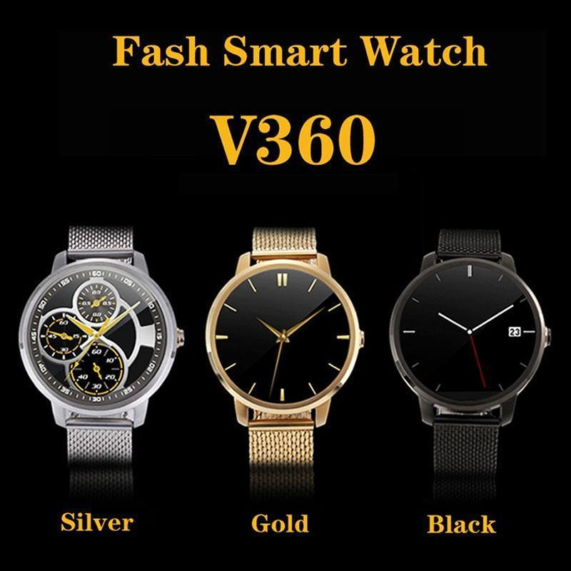 Exquisite V360 Waterproof Bluetooth Smart Watch For Smart Phones With Pedometer