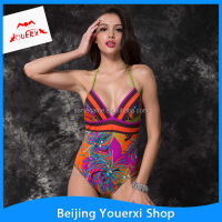 Sexy Lady Fashion printed bikini pattern swimwear bathing suit