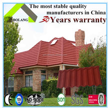 Chiinese manufacture metal roofing tile/color stone metal step tile roof/metal sheet for roofing price