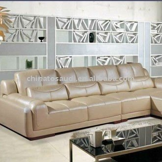 Comfortable Living Room Leather Sofa Set View Leather