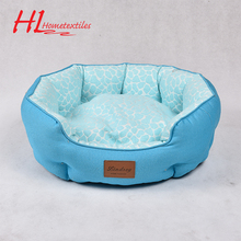 OKTEX-100&BSCI Eco-Friendly Polyester Blue Dog Bed