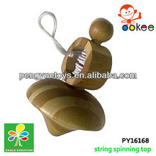 Wooden super beyblade kreisel-pull string type