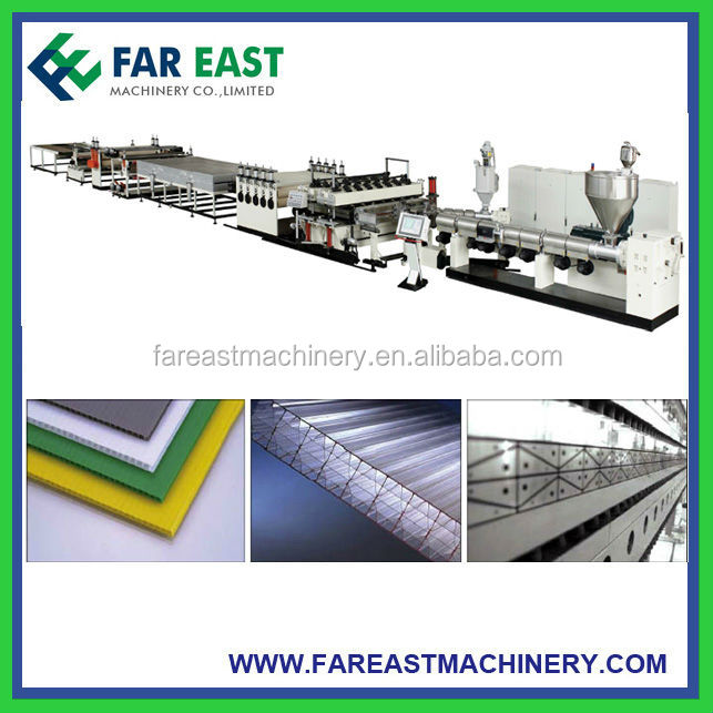 PP Plastic Hollow Sheet Extrusion Line/PP Corrugated Sheet Extruder Machine