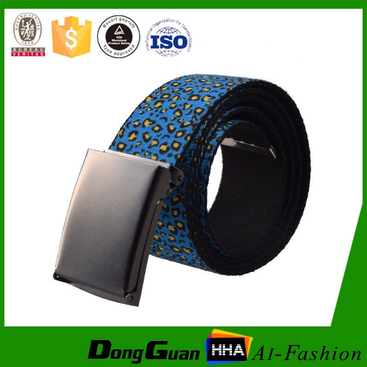 Top Quality Custom Logo Sublimation Canvas Belt For Men