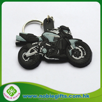 Tourist Souvenirs 3d Shaped Custom Soft PVC motorcycle rubber keyring