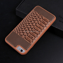 Fashion Crocodile Back Pattern Genuine Leather Phone Cases For iPhone Case Original Leather Cover