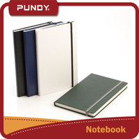 leather cover material and hardcover style paper notebook