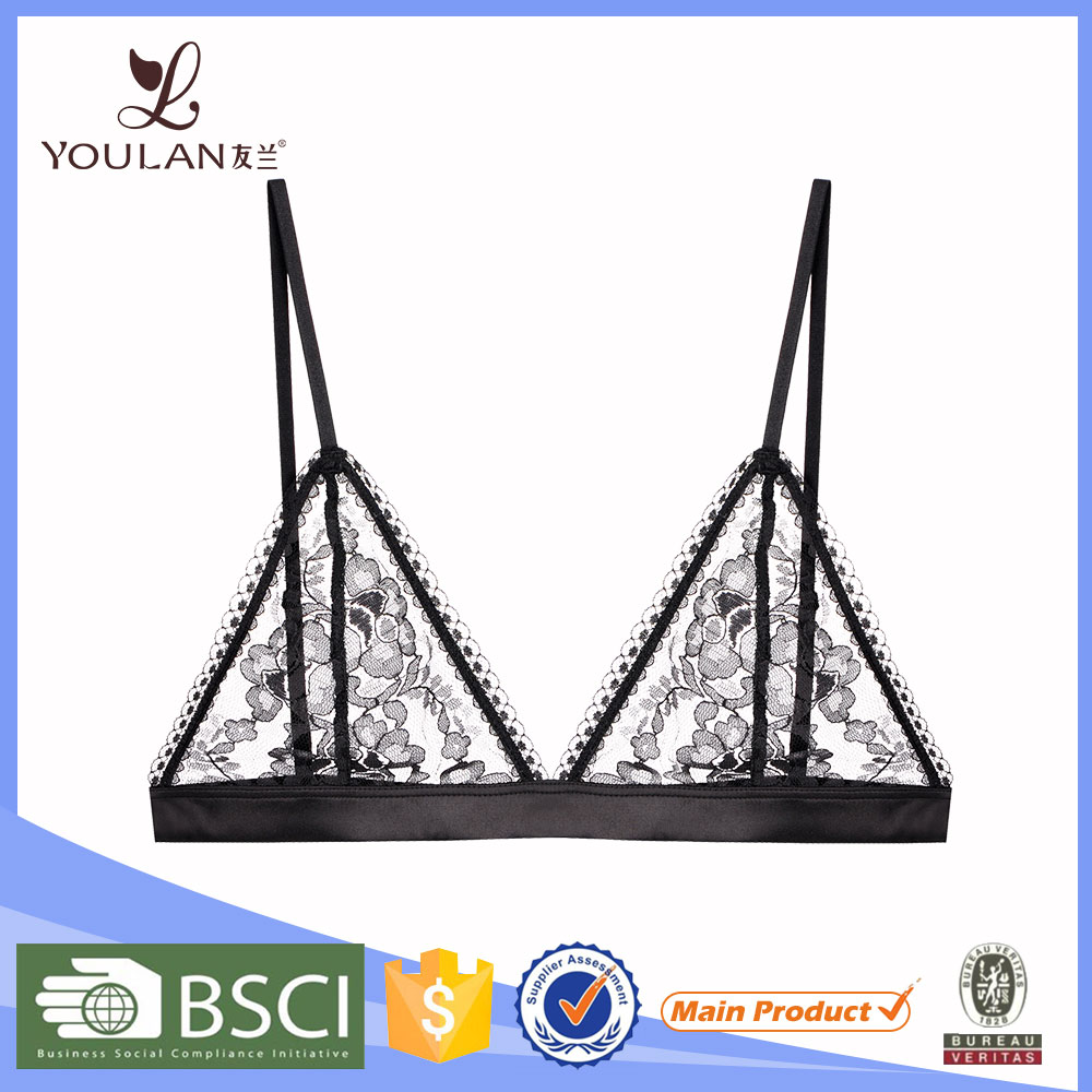 High Quality Comfortable Sexy Girl Cotton lace bra