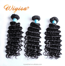 Top grade wholesale indian remy curly hair extension,raw unprocessed 100% virgin natural human hair bundle in india temple
