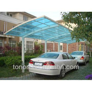 Polycarbonate sheet for steel glass carport canopy