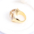 2016 Latest Fashion Jewelry 18K Gold Ring Designs for Women