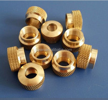High quality M2-M20 brass nut Customized knurled nuts with collar