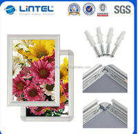 Wall mounted picture snap frame