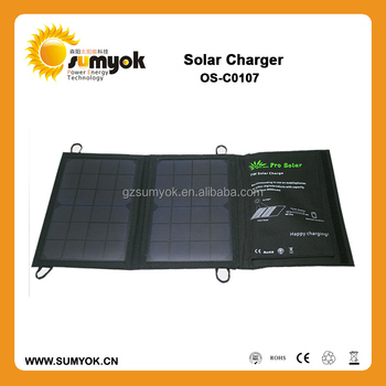 Sunpower 7W folding solar panel charger/solar mobile charger for christmas