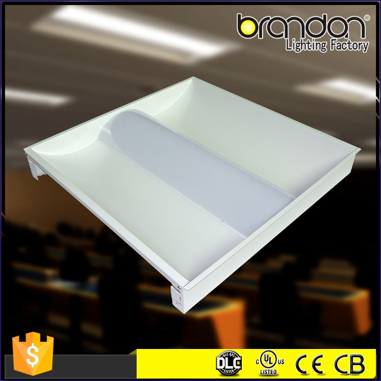 40w 2x2 2x4 hanging ceiling led recessed troffer 125lm/w dimmable led panel light
