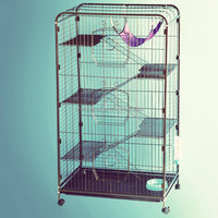 Sturdy folding metal cat cage, squirrel cage, cat carrier