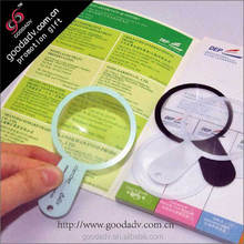 Credit card hand magnifiers glass plastic magnifying glass for promotional gift