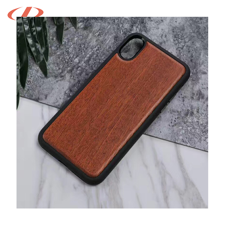 Customized wood cover for iphone apple for iphone x case wood leather,wood and leather phone case for iphone